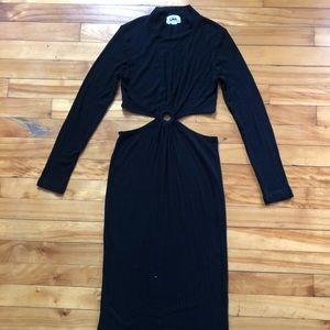 LNA cut-out dress